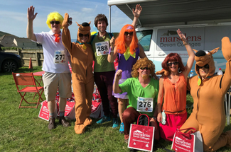 The Marsdens Devon Cottages team taking part in the Croyde Scrumptious Trail