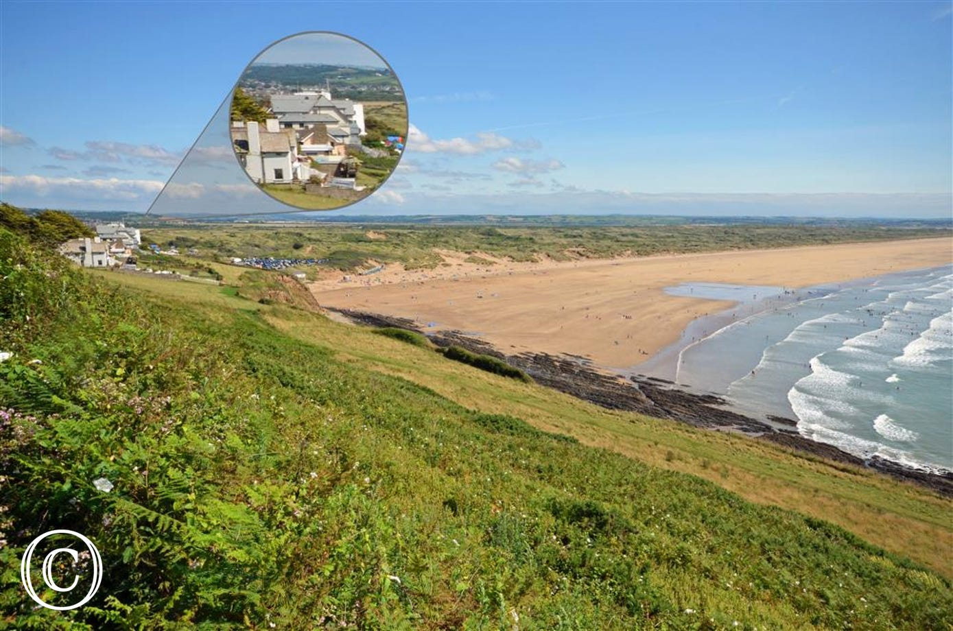Amazing views over the three mile stretch of truly unspoilt and beautiful Saunton Sands can be enjoyed from almost every room in this apartment