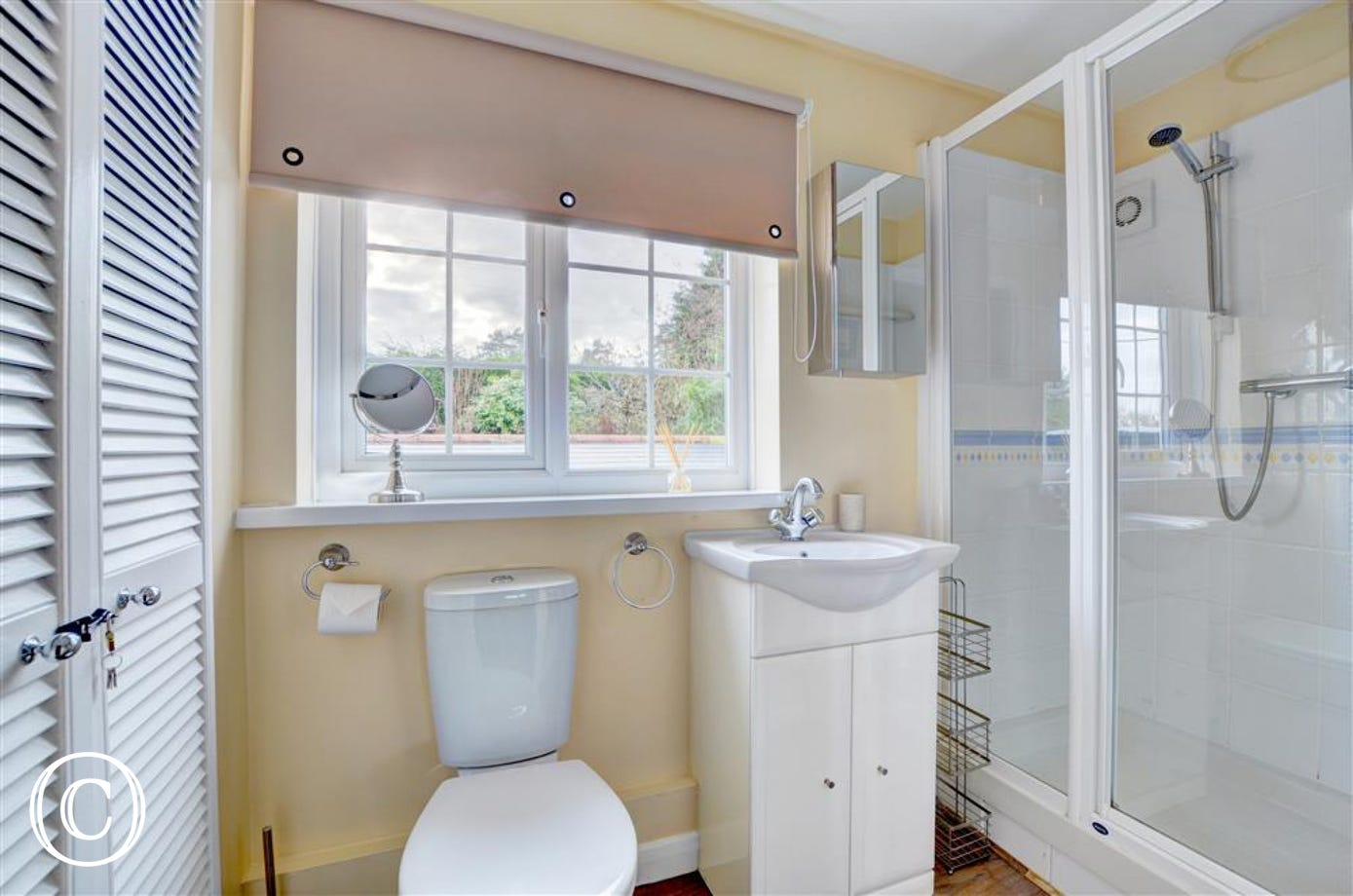 The ensuite with large walk in shower