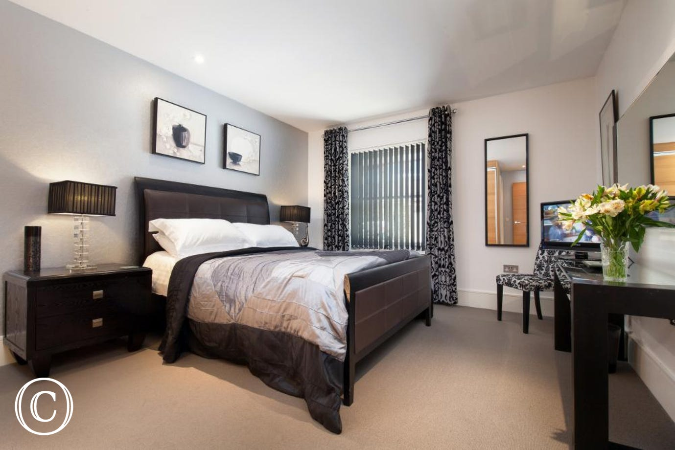 Master bedroom with large en-suite. A TV/DVD Player is provided in both bedrooms.