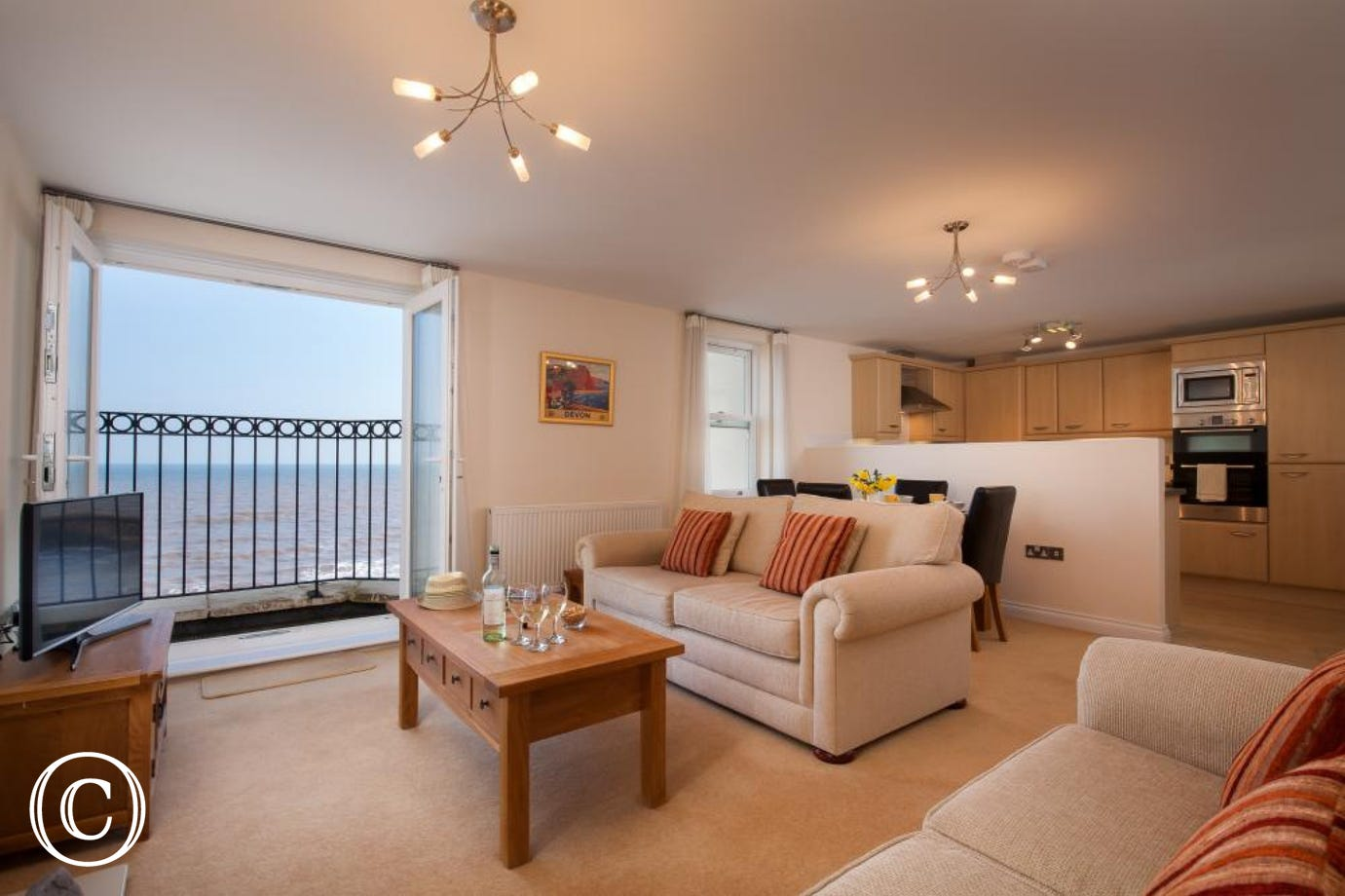 Living Room at 16 Great Cliff in Dawlish, South Devon