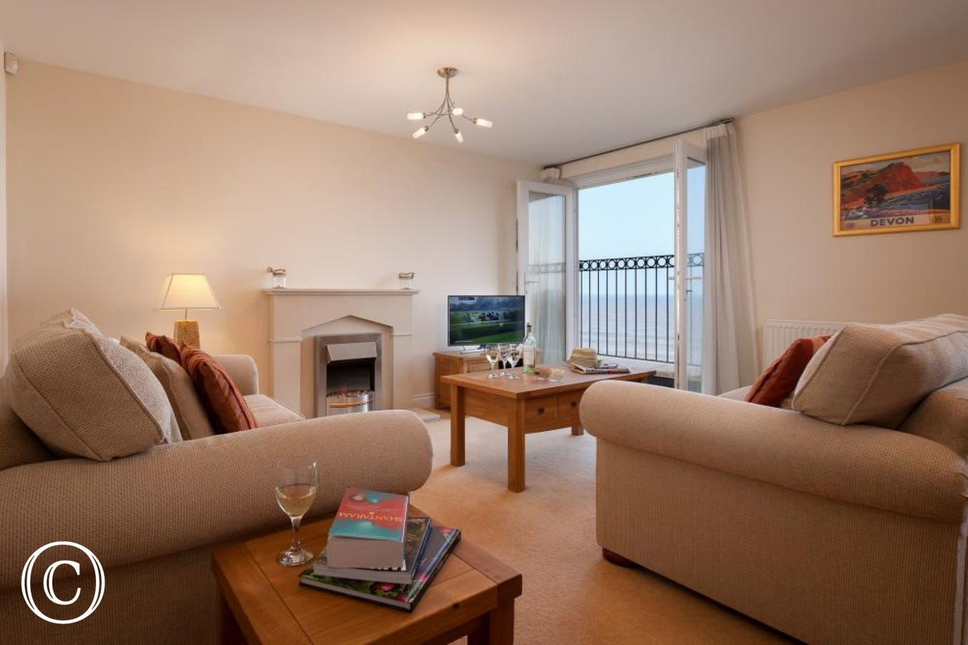 Relaxing Family Holiday Apartment at 16 Great Cliff in Dawlish, South Devon