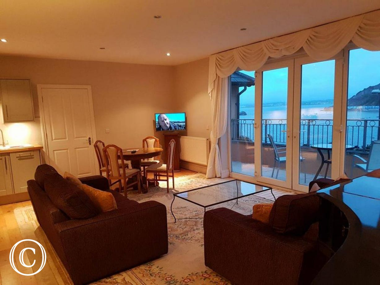 Fabulous new living space upsatirs with kitchen, lounge, diner & sea view balcony