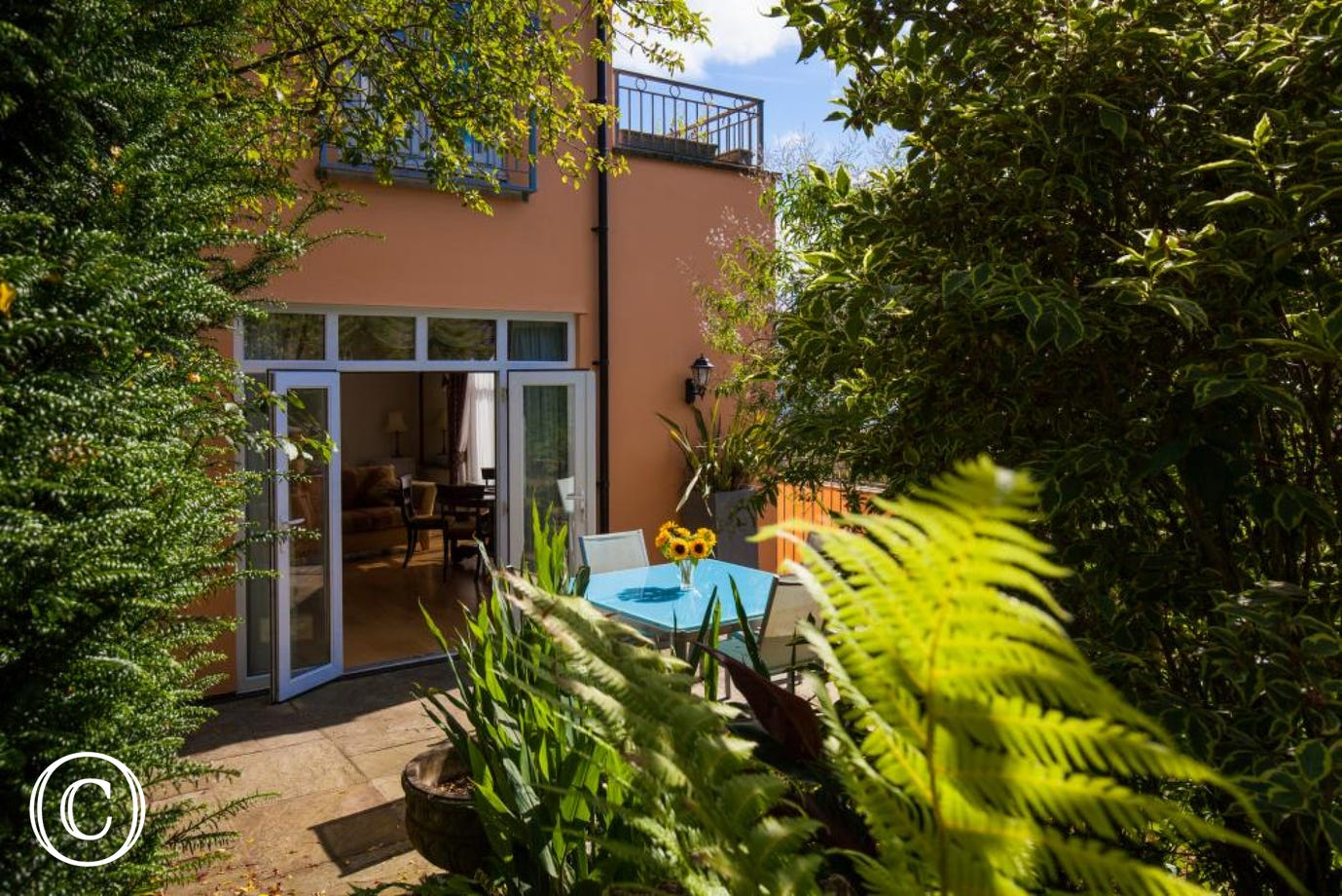 Sunny enclosed garden off the lounge & kitchen