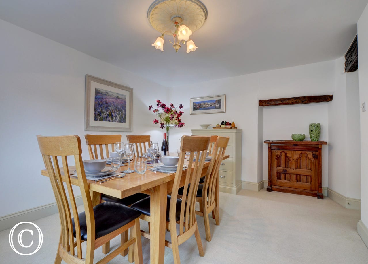 Separate dining room, a great space to entertain family and friends