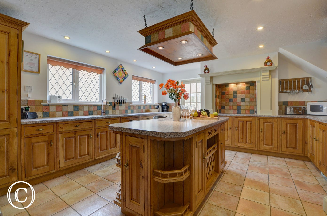 Spacious country style kitchen