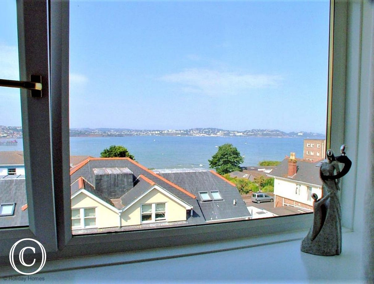Stanley Apt 1 Paignton - Bedroom 2 Sea View to Torquay