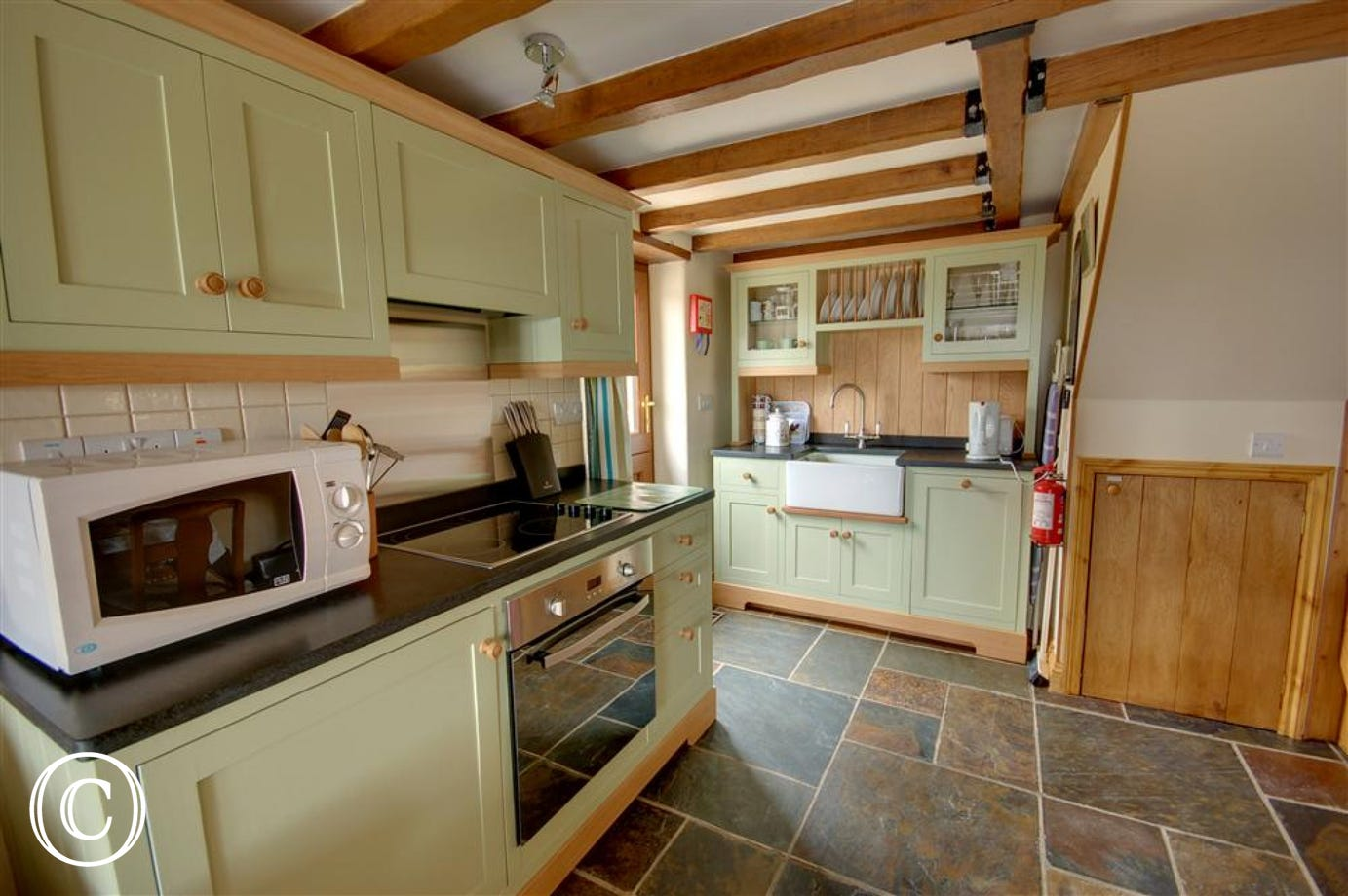 The delightful country style kitchen