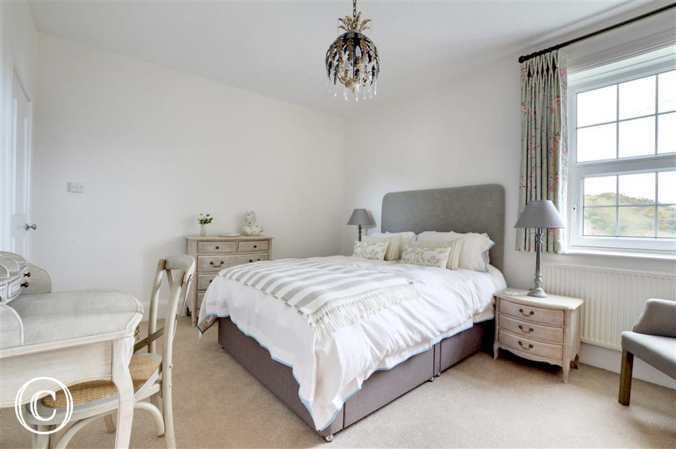 Beautifully decorated master bedroom