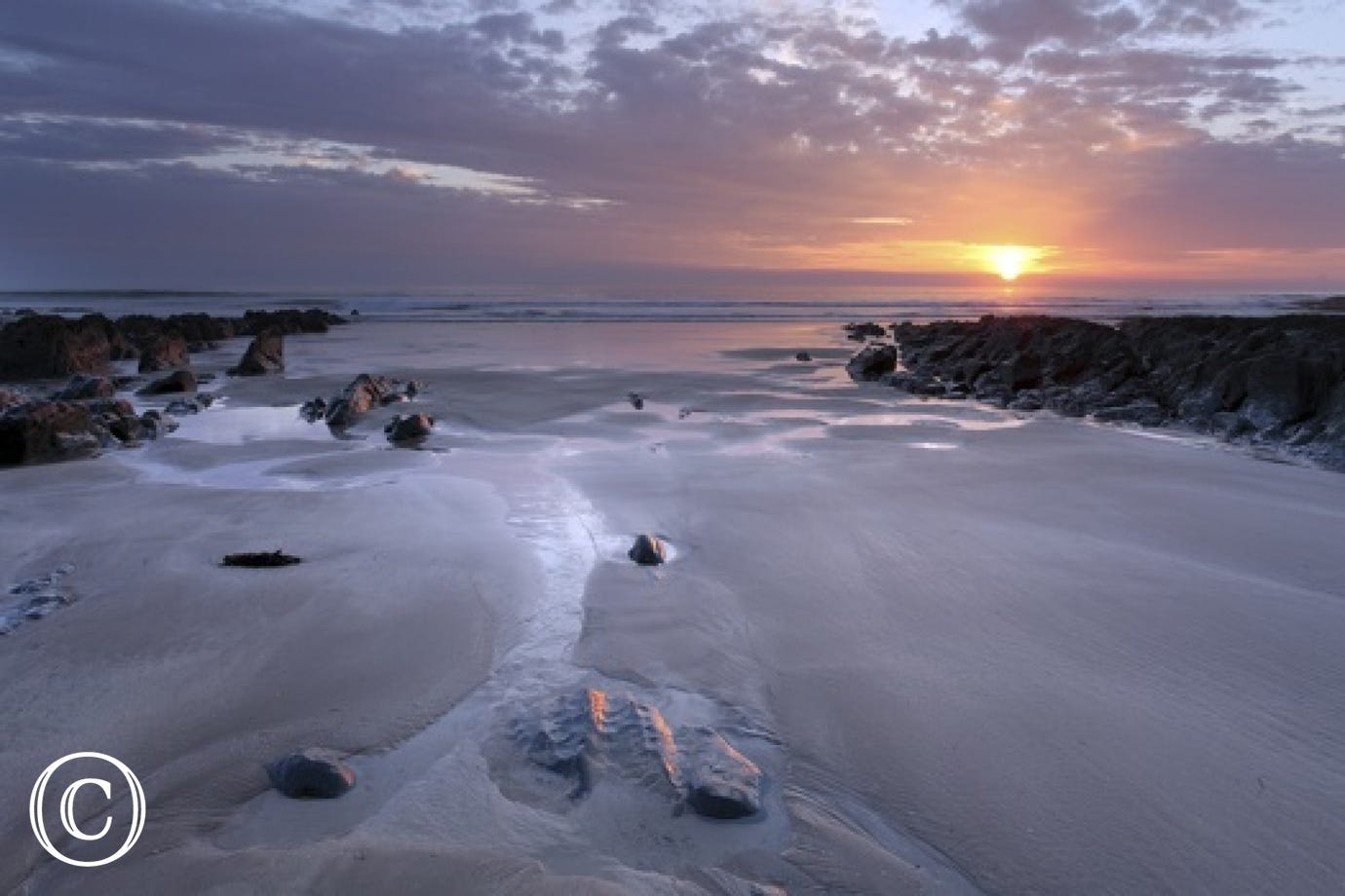 Enjoy an evening sunset walk on beautiful Woolacombe beach