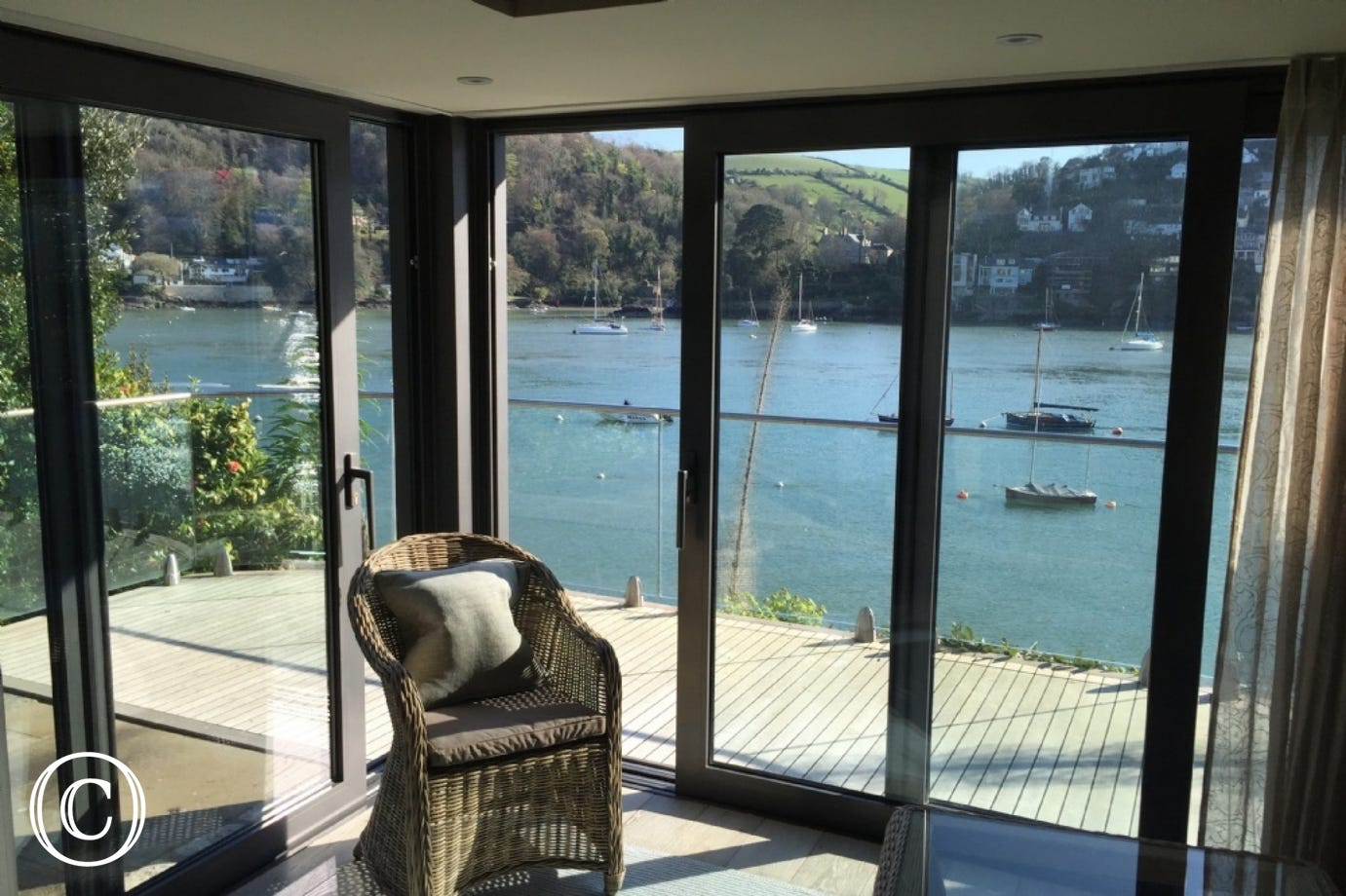 Enjoy the stunning views of the River Dart from the comfort of the living room.