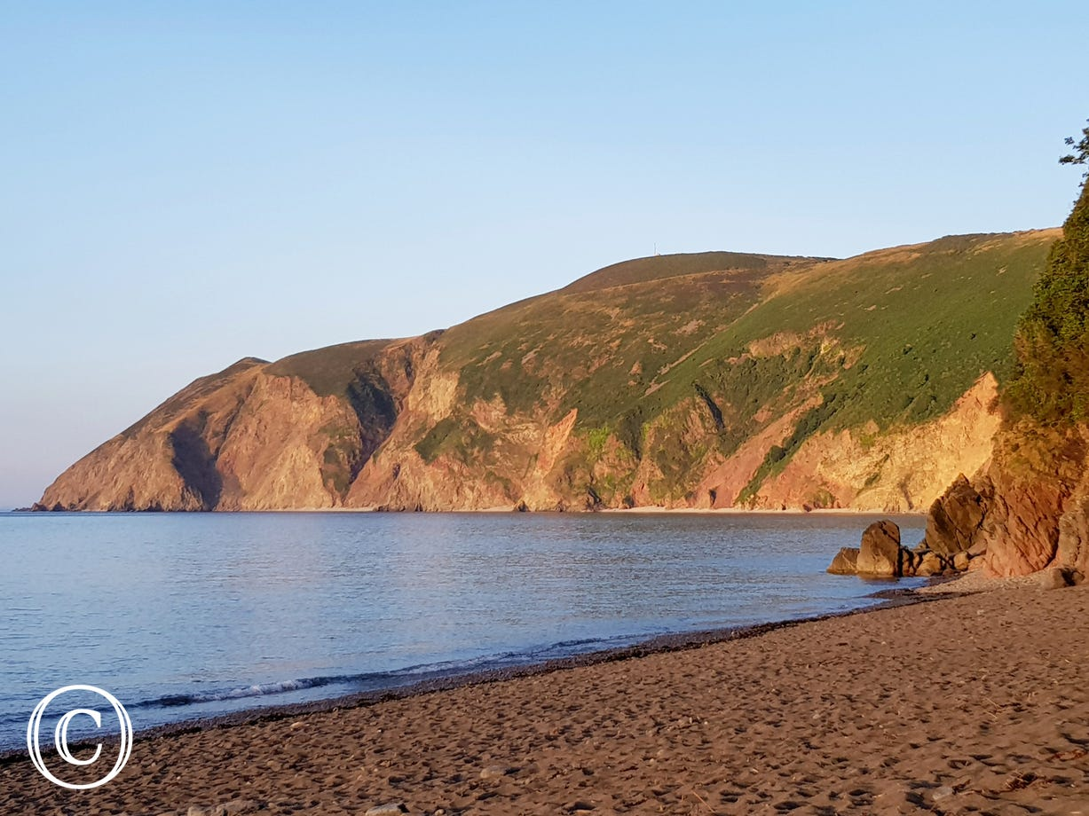 Lynmouth beach and harbour are just a short stroll away