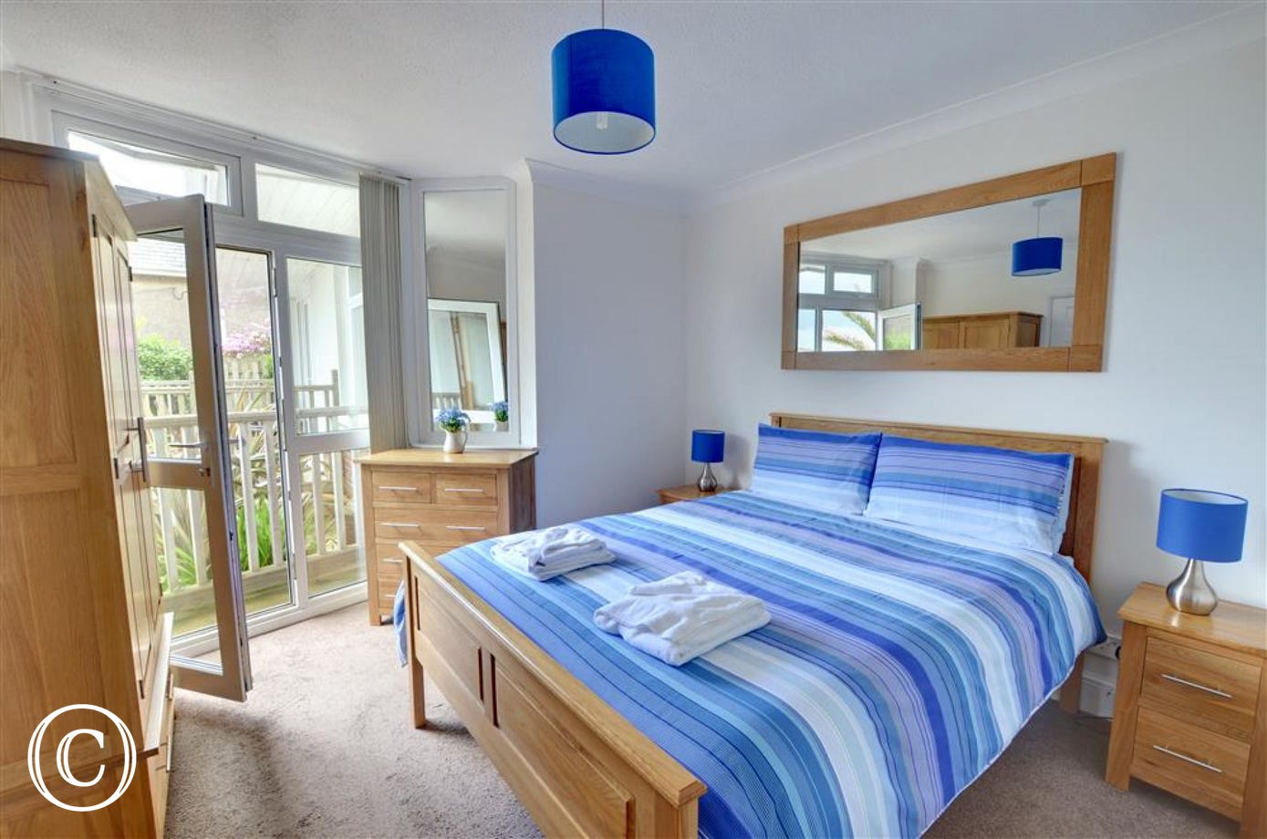 Double bedroom with ensuite shower room and fantastic views