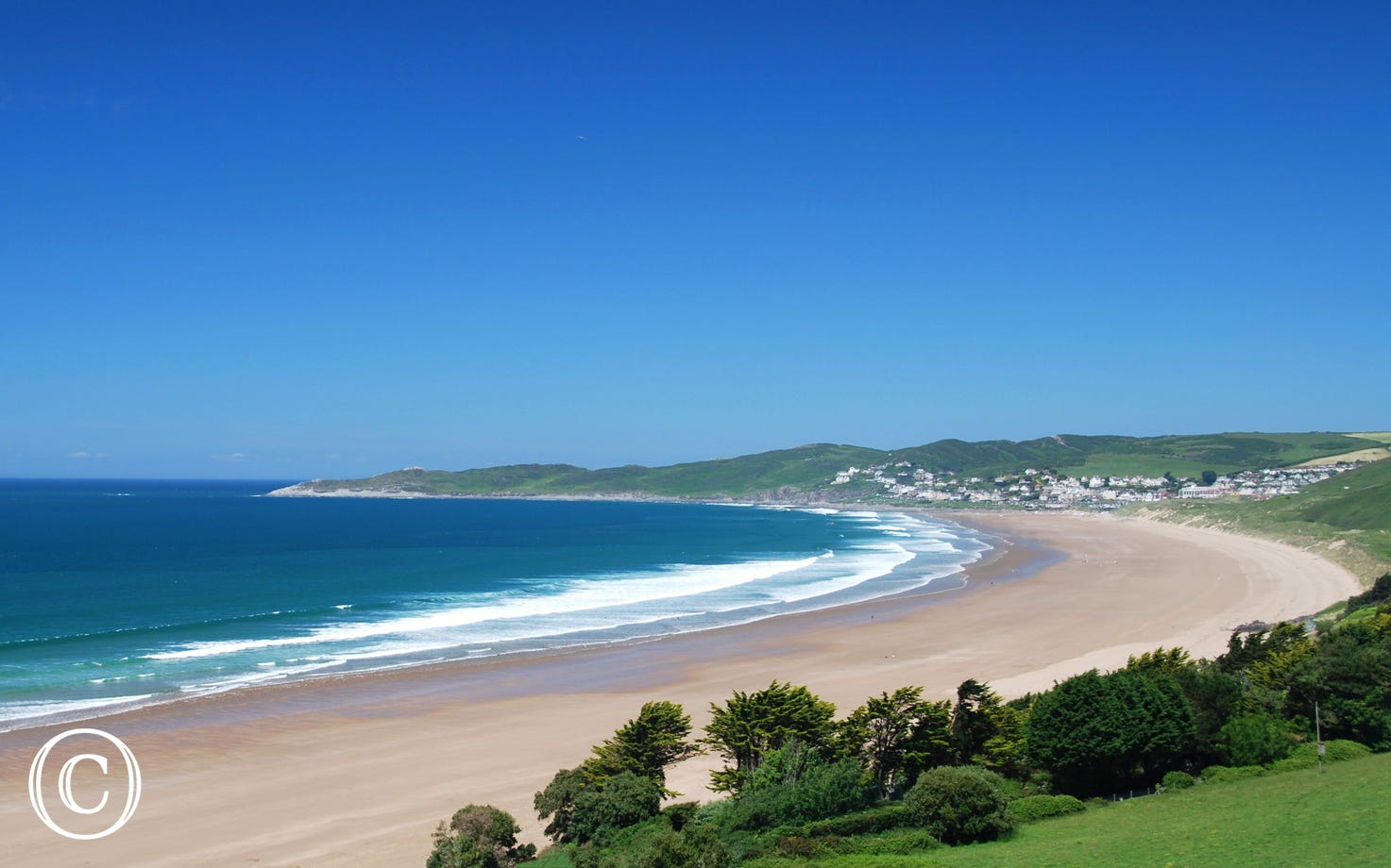Putsborough beach is just a short drive away