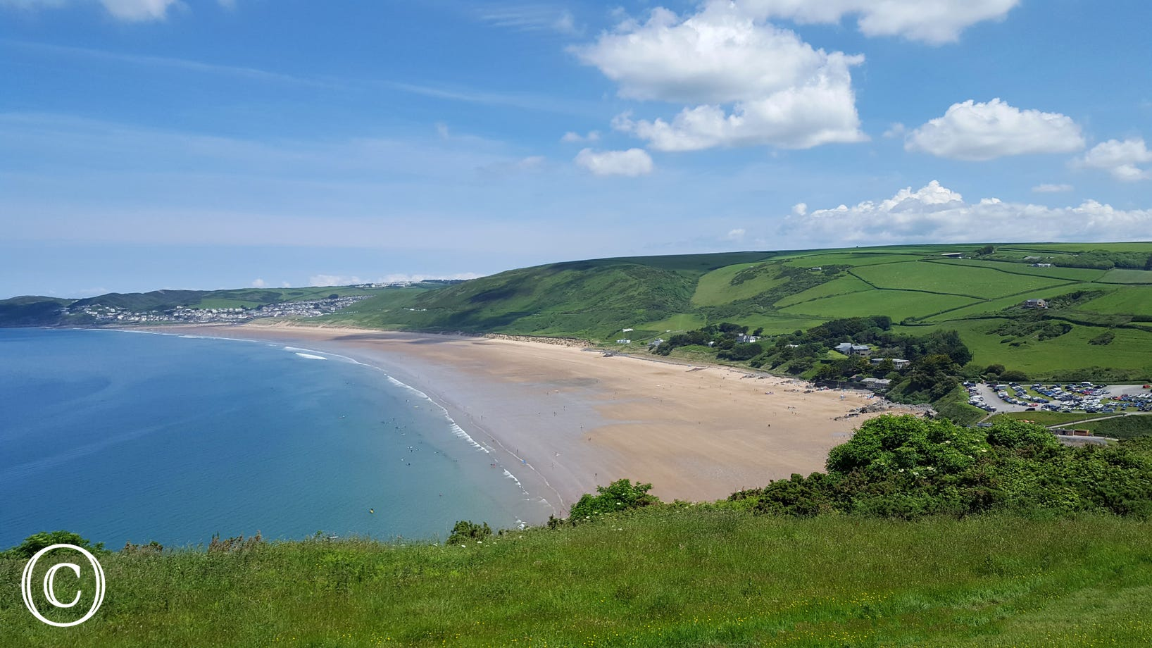 The property is just a short drive to the famous surfing beach of Putsborough