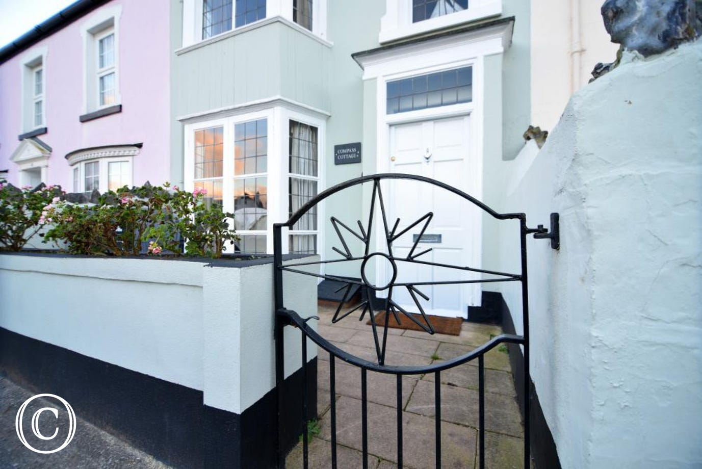 Property gate - Compass Cottage, Shaldon