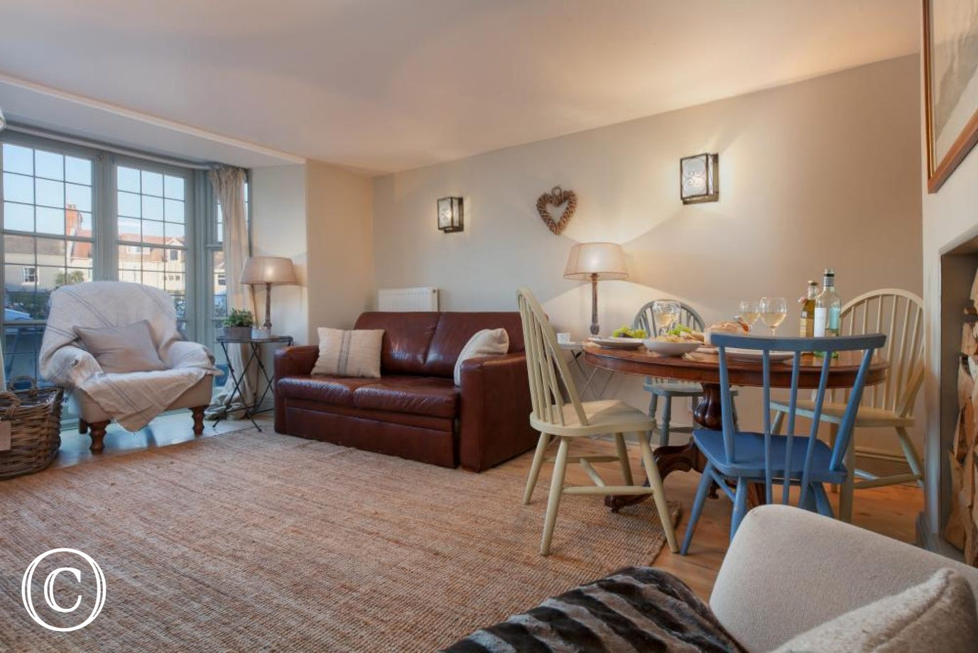Living room and dining area - Compass Cottage, Shaldon