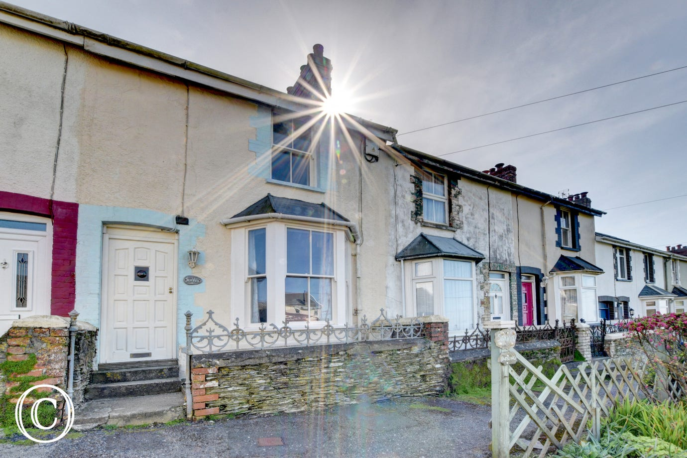 This Victorian terraced cottage sits just across from the National Trust headland of Morte Point with superb sea views