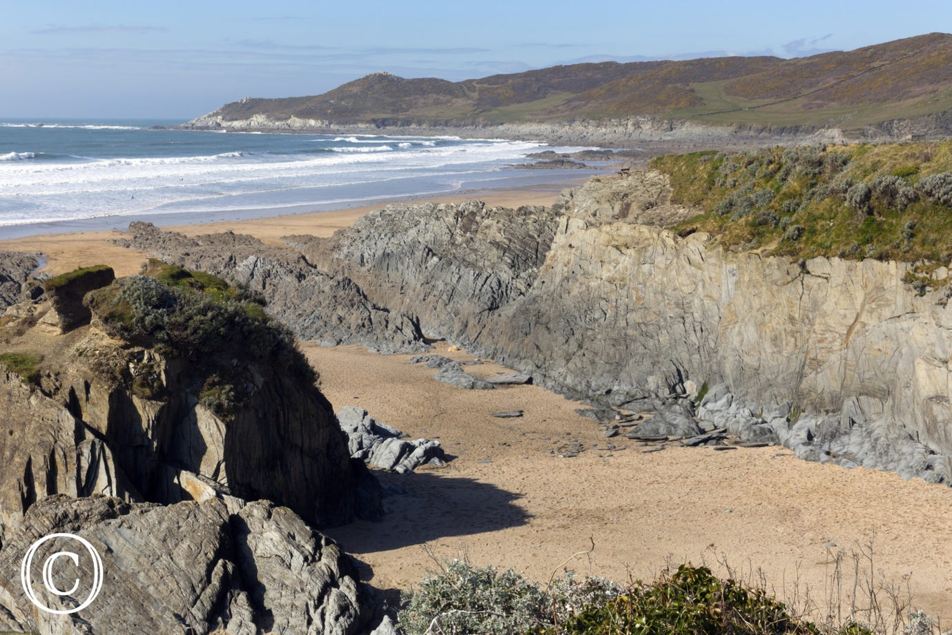 Barricane is Woolacombes second beach which is a beautiful sheltered cove