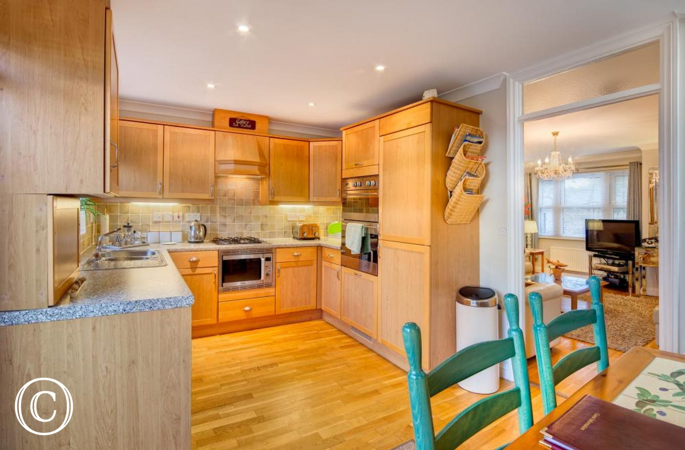Spacious Kitchen in Beach Mews Self-Catering Holiday Cottage near Meadfoot Beach in Torquay