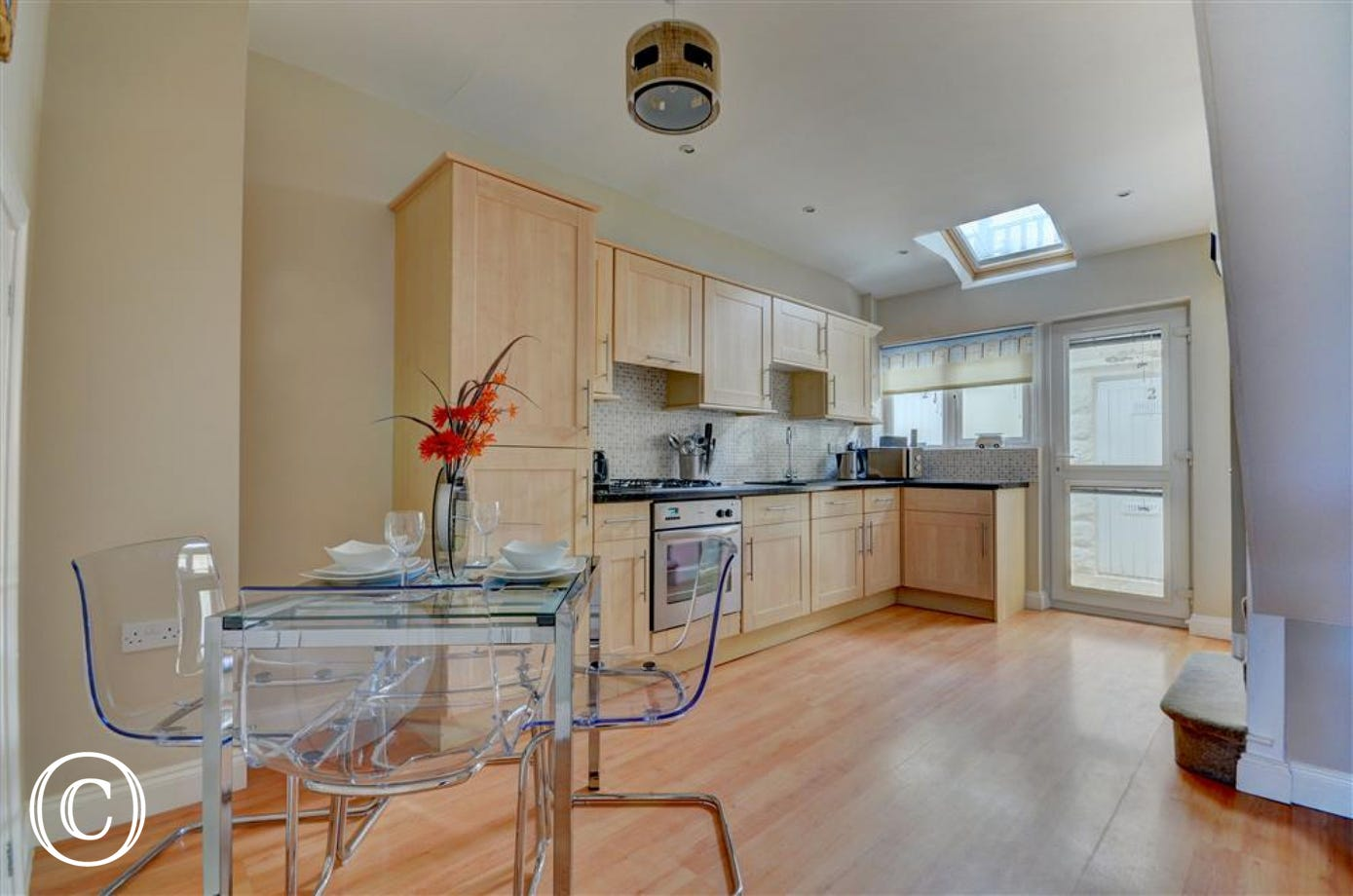 Plenty of space in the open plan kitchen and dining room