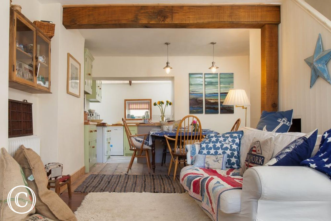 Star Cottage, Shaldon - Living area with sofa 2