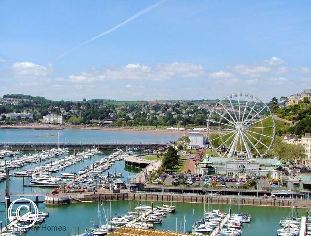 The Riviera Torquay - VIew over the Harbour from the Upper Floors