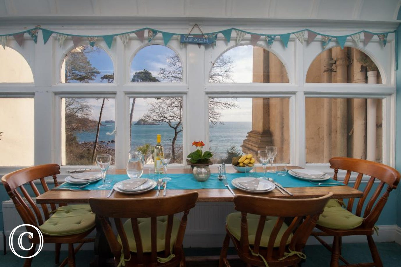 Beautiful Sea Views from the Dining Area/Entrance to the Apartment
