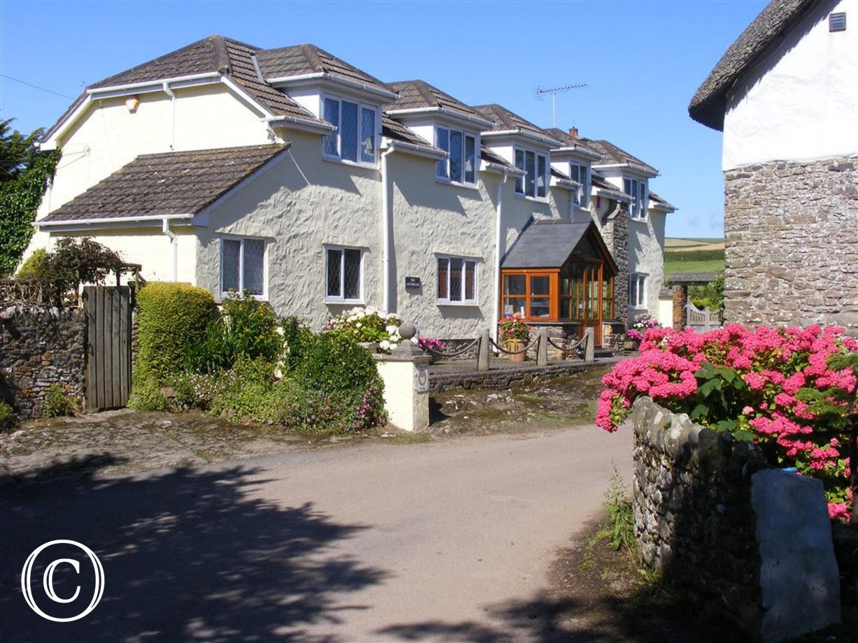 Front view of The Anchorage, a detached Devon Longhouse