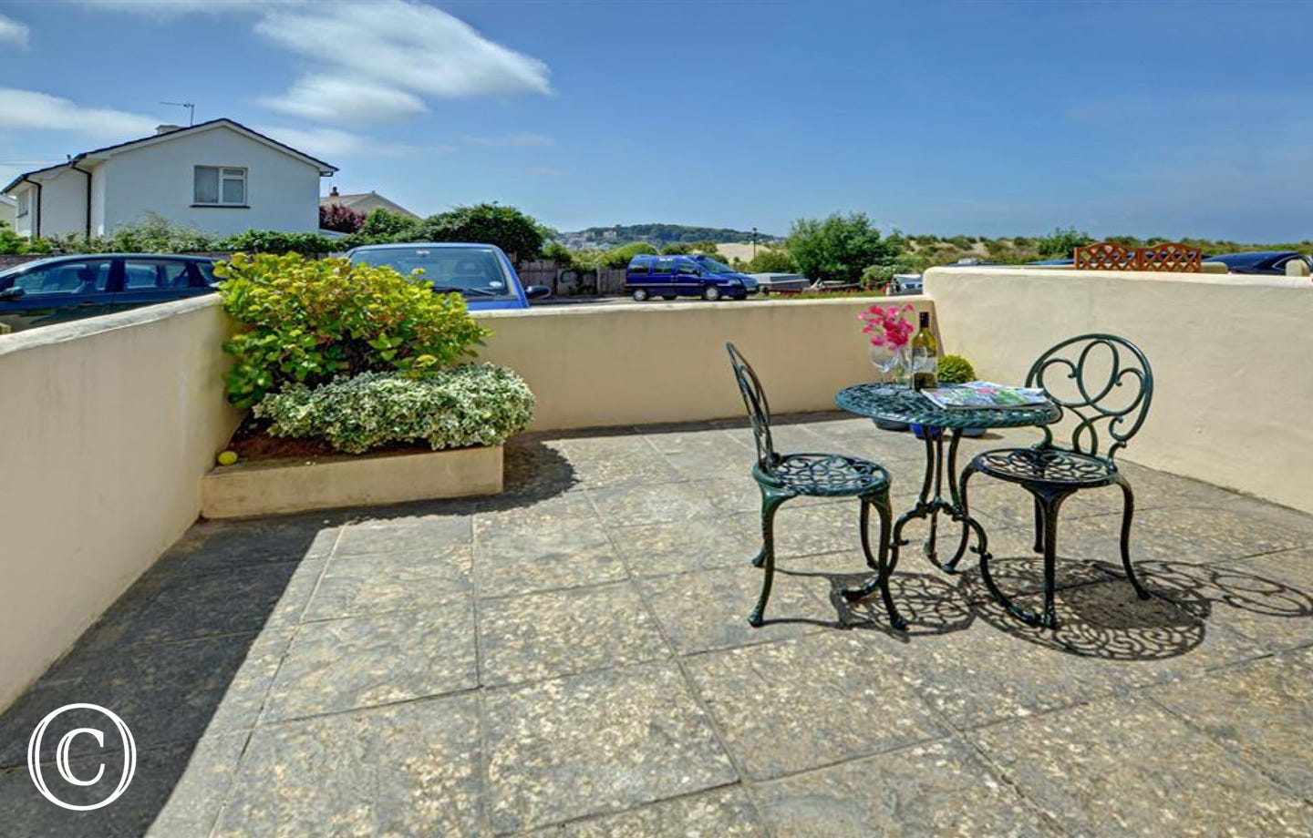 Outside there is a small fully enclosed patio where you can enjoy striking views across to Appledore and spectacular sunsets on balmy evenings