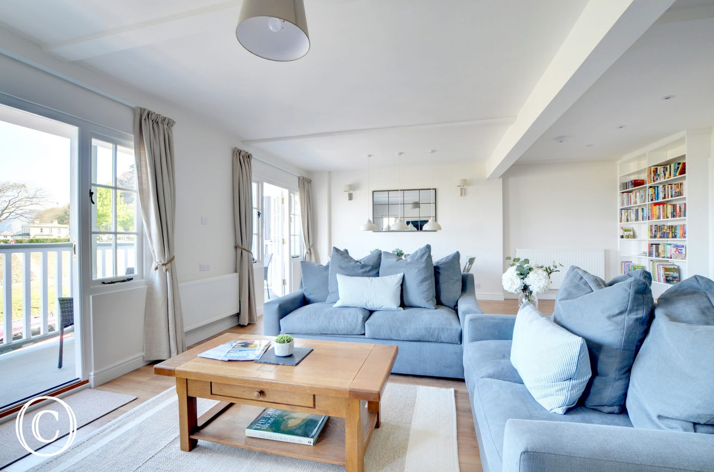 The open plan living area is spacious, light and airy and provides extremely attractive and high quality accommodation