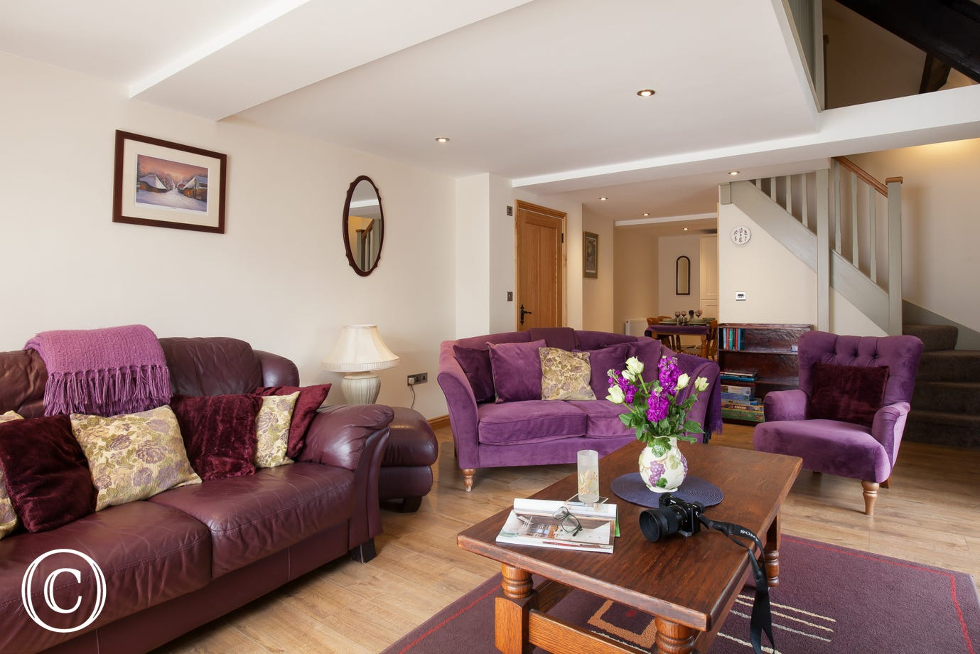 Inviting and welcoming living area at Mill Cottage in Torquay, Devon