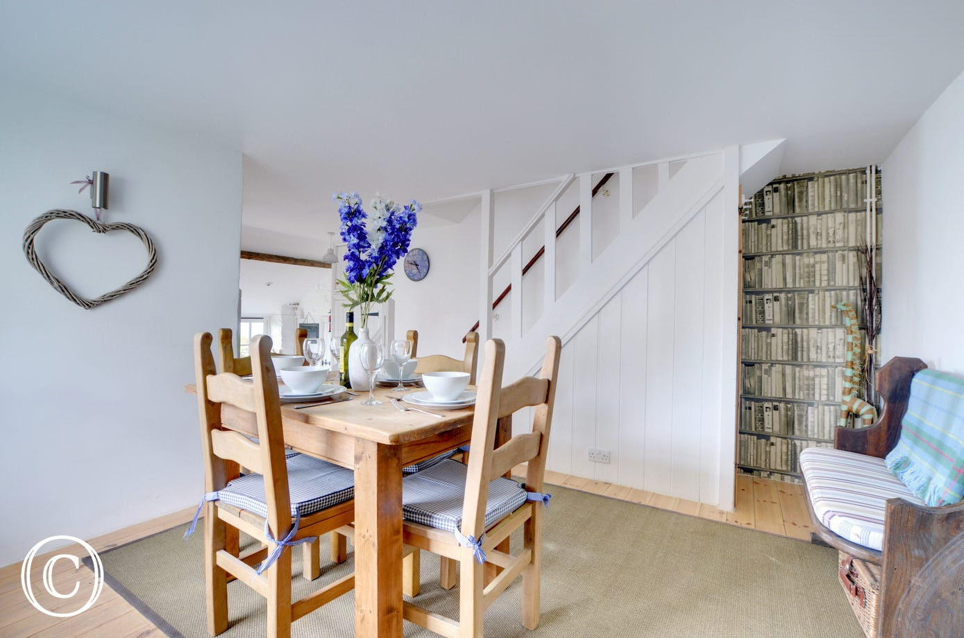 Enjoy any meal around the dining room table, just off from the kitchen