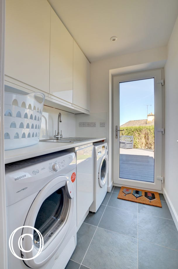 Useful utility room with access to the garden
