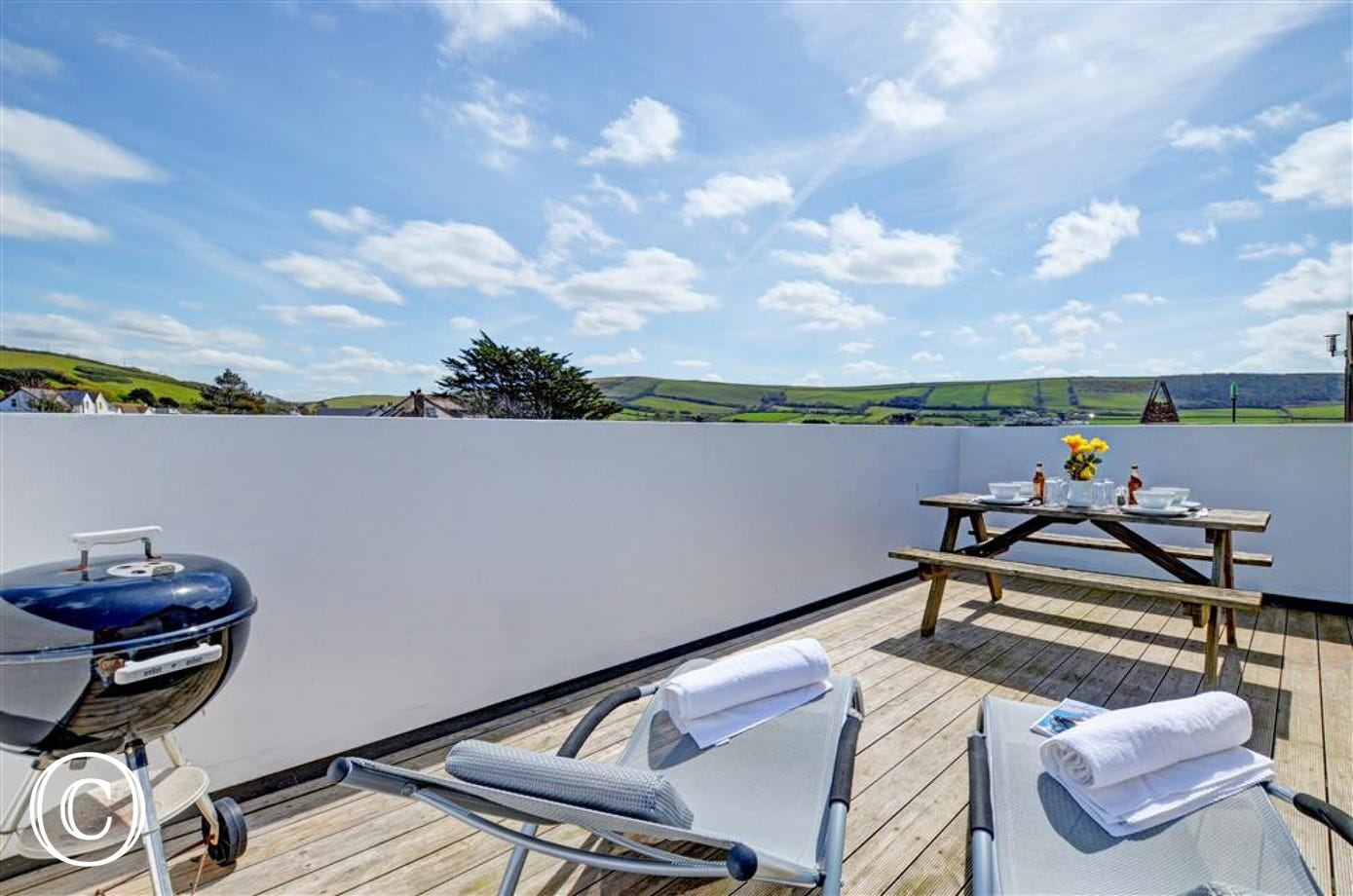 Enjoy a BBQ on the sun trap balcony