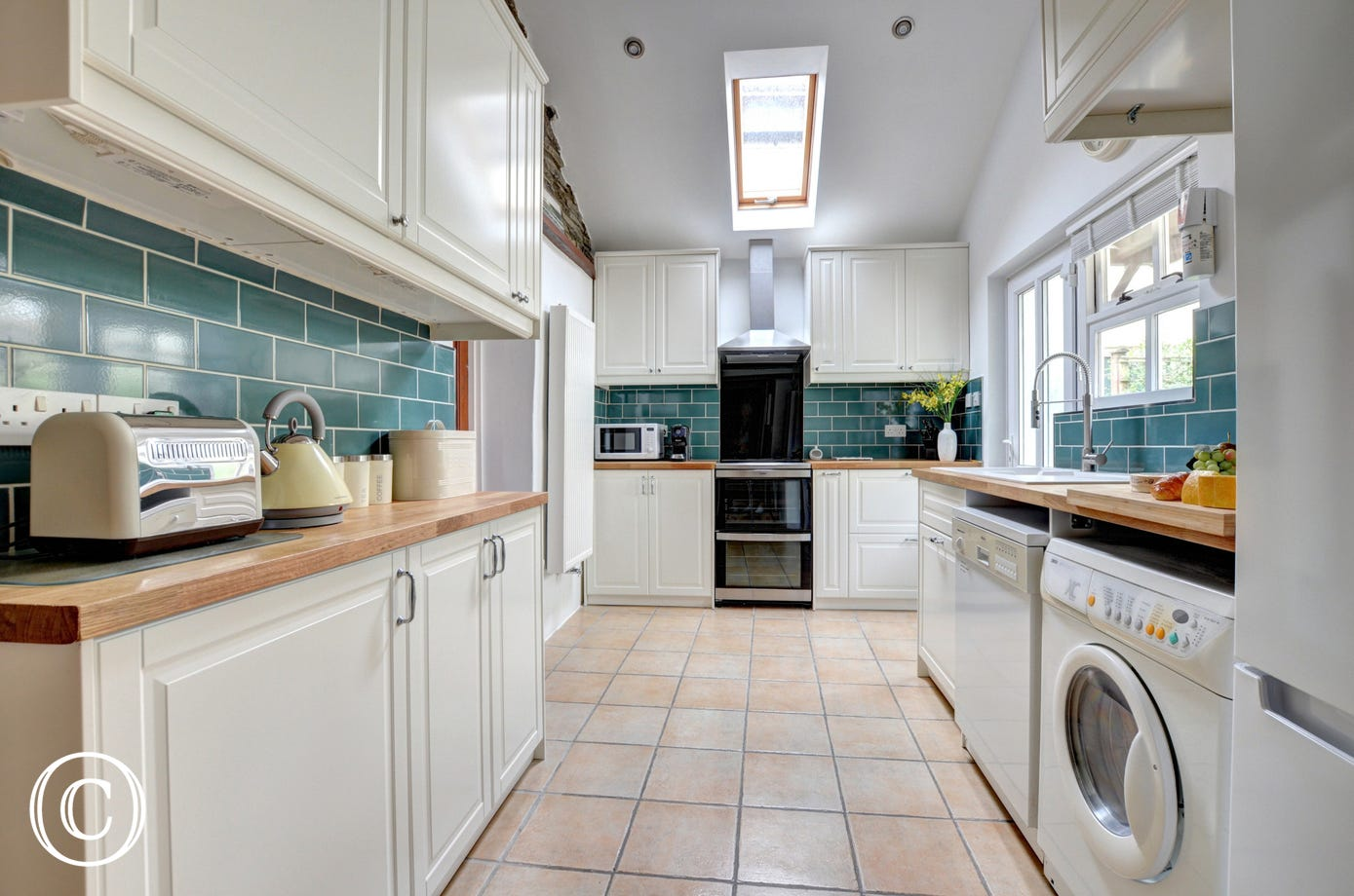 Well equipped galley styled kitchen