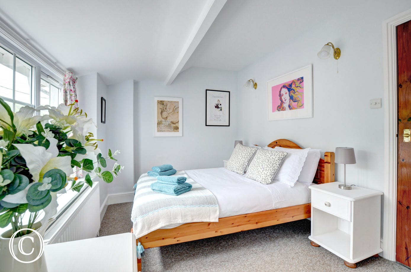 Attractive bright double bedroom