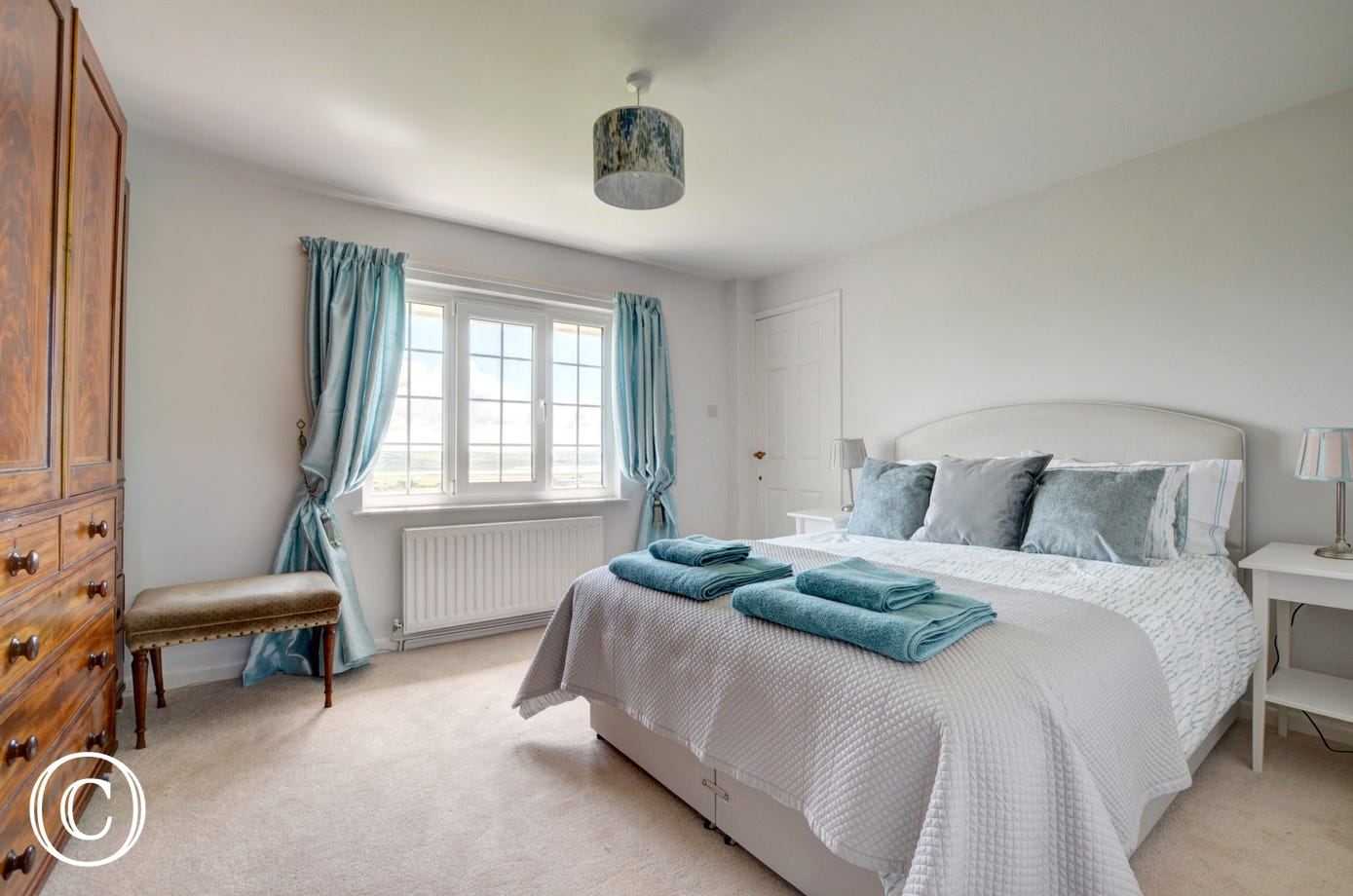 The master bedroom has a King and has plenty of storage space plus an ensuite bathroom