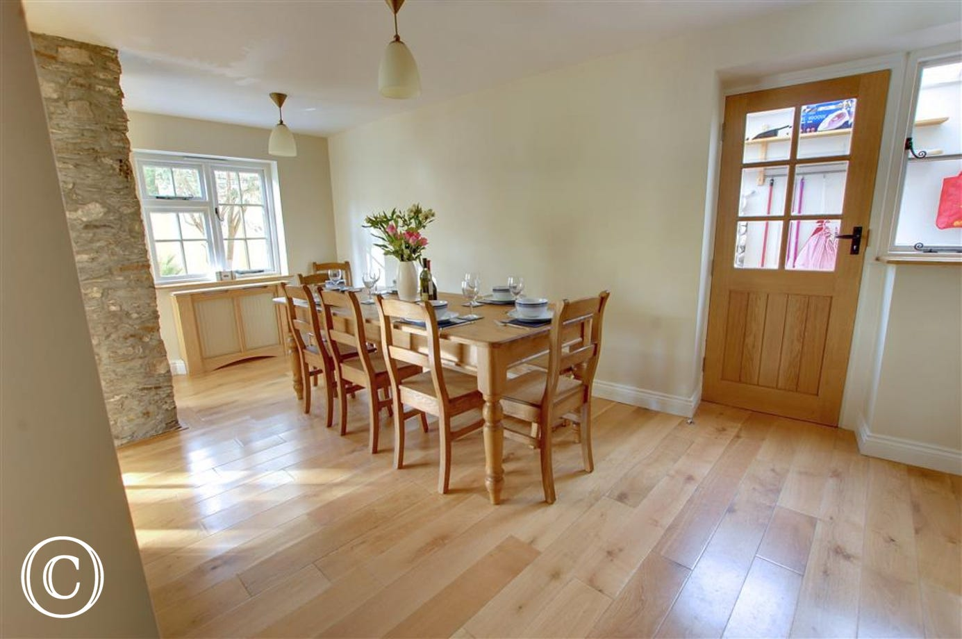 The lovely dining area, perfect for enjoying family meals together