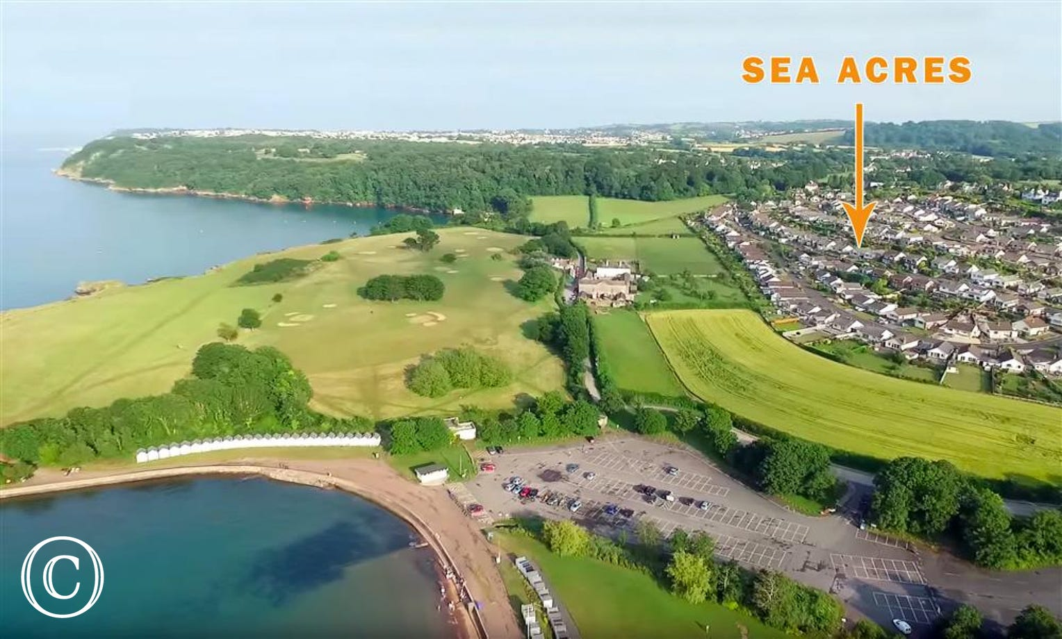Sea Acres, Paignton - Ariel shot