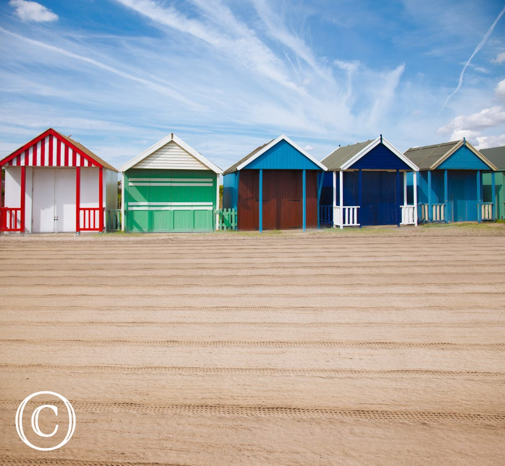 Beach huts at Paignton