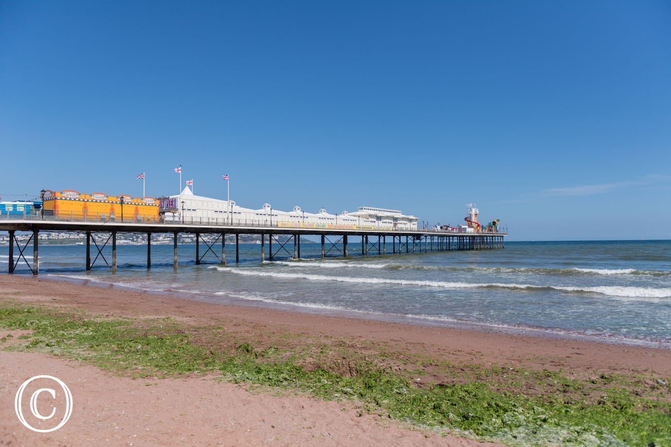 Paignton beach and pier