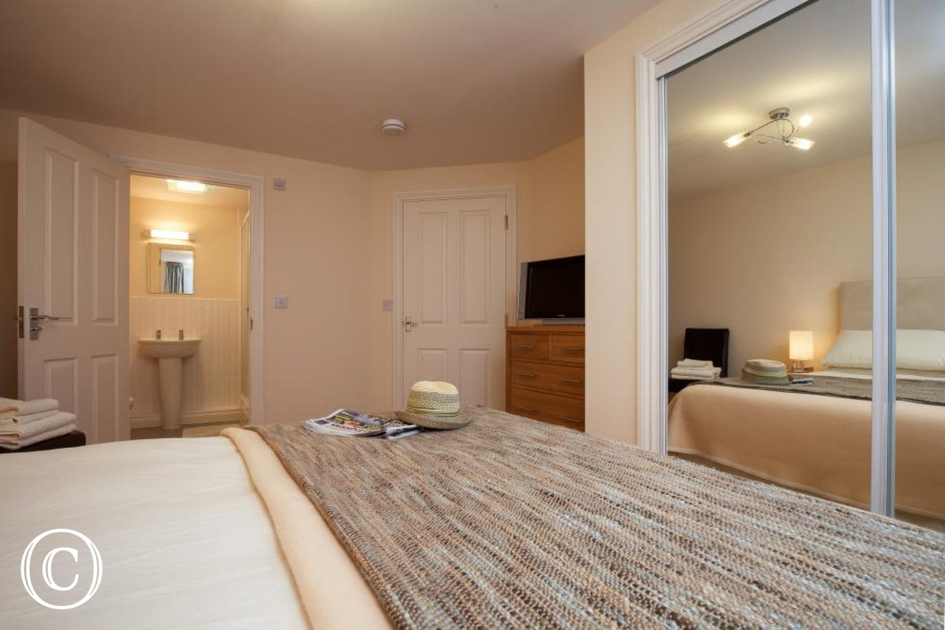 Large, Spacious Bedroom at 16 Great Cliff Apartment in Dawlish. Perfect for a Comfortable Devon Coastal Break