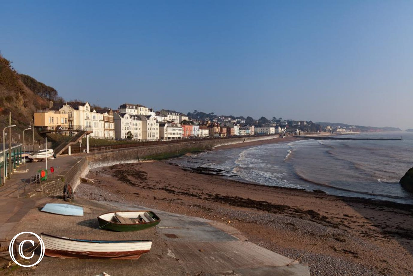 The Seaside Town of Dawlish in South Devon
