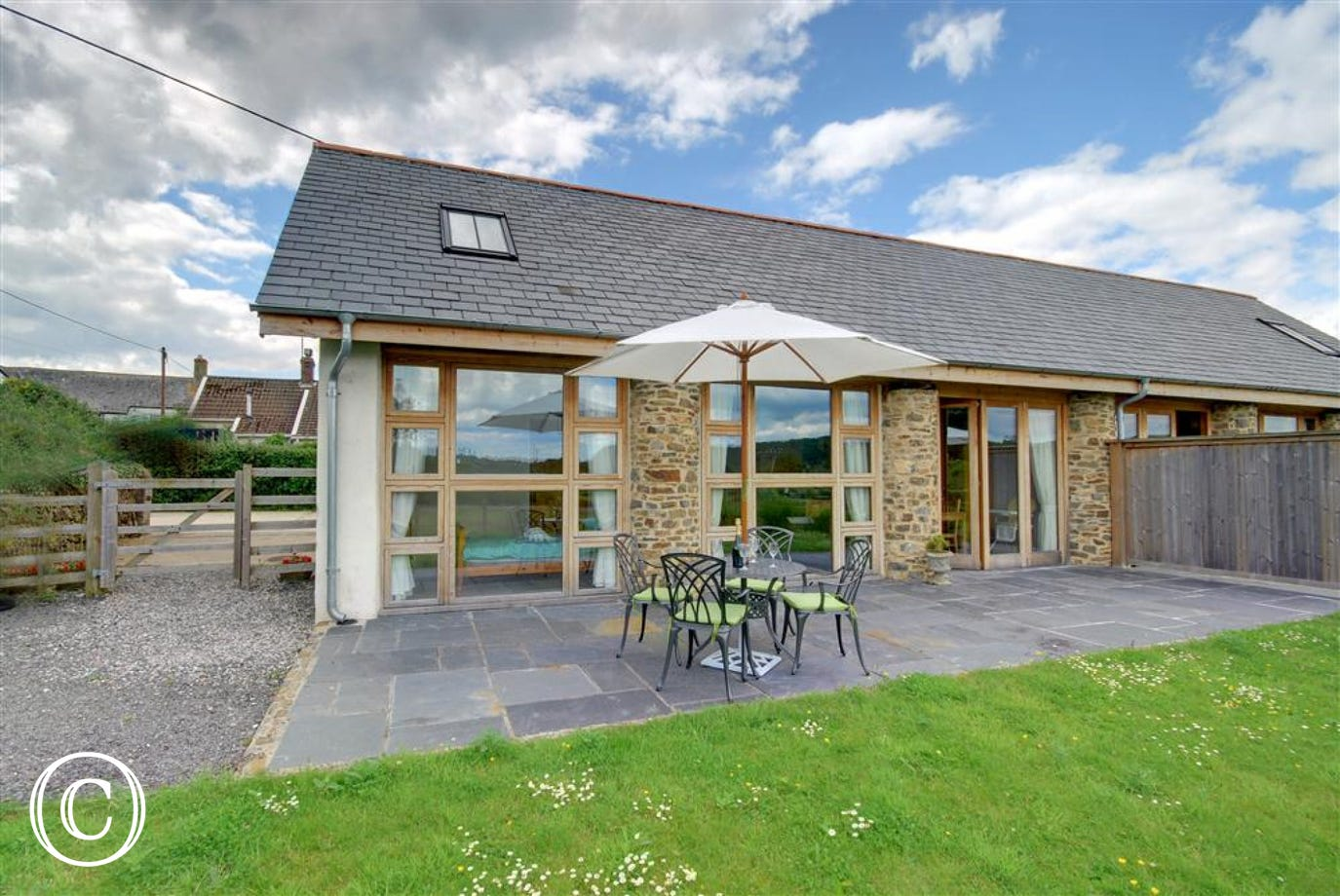 Barn conversion in the peaceful North Devon countryside