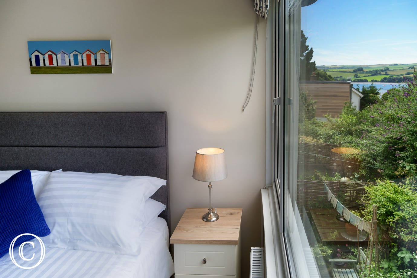 countryside views over Stoke Gabriel from large bright windows