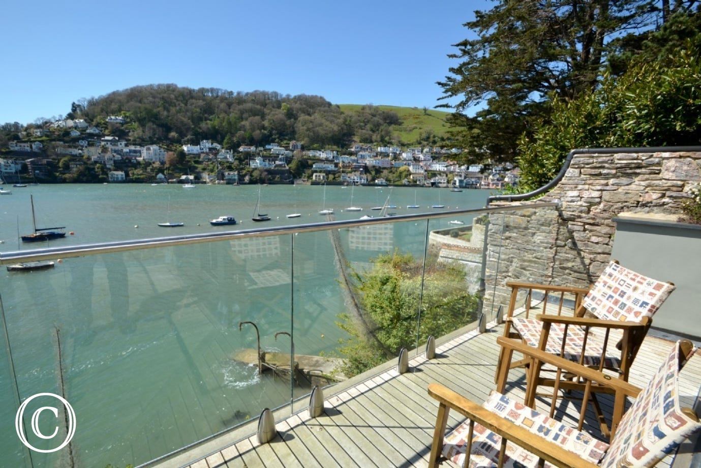 Sun loungers at The Edge in Kingswear