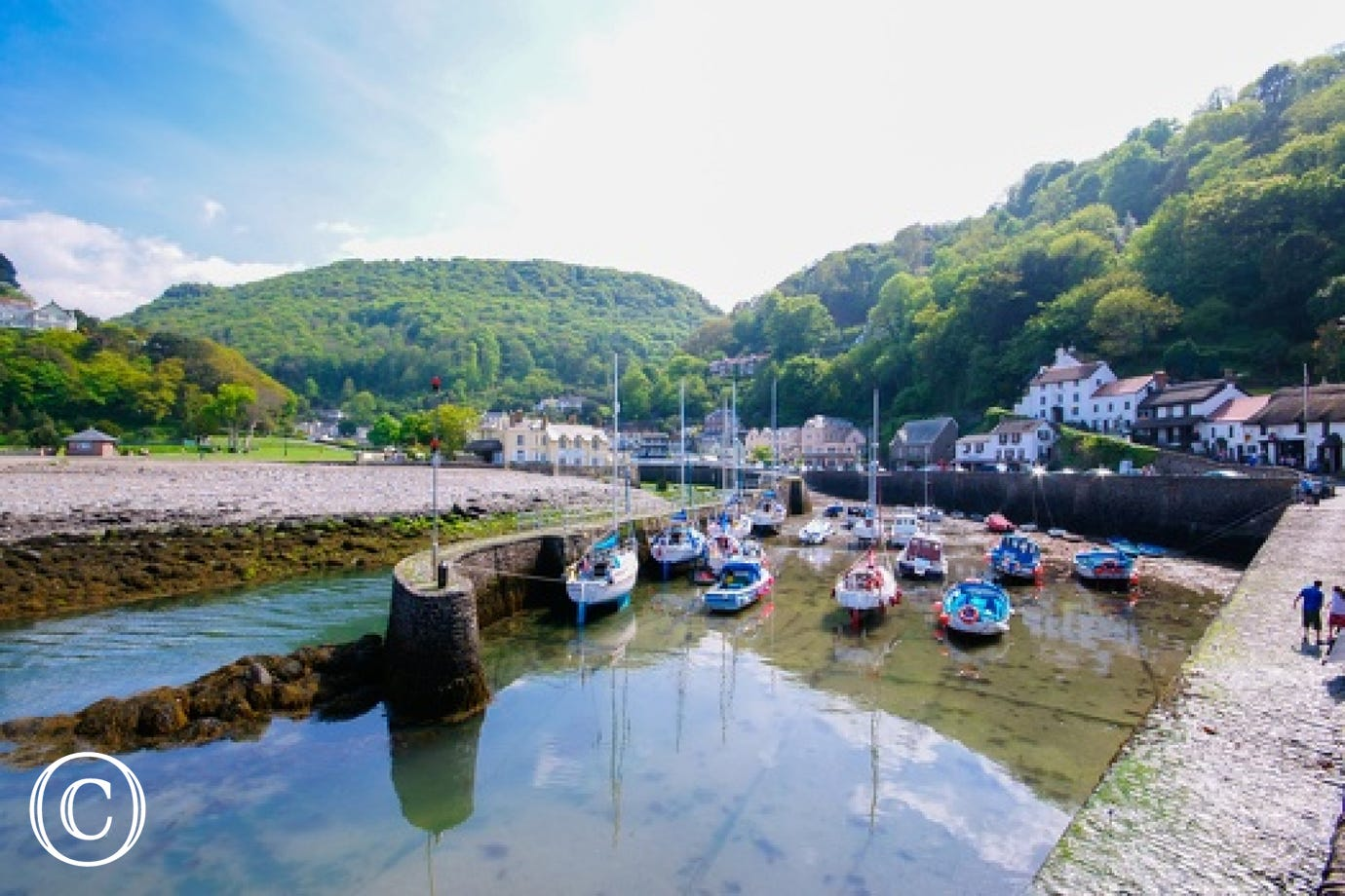 The beautiful harbour in Lynmouth is just a short stroll away