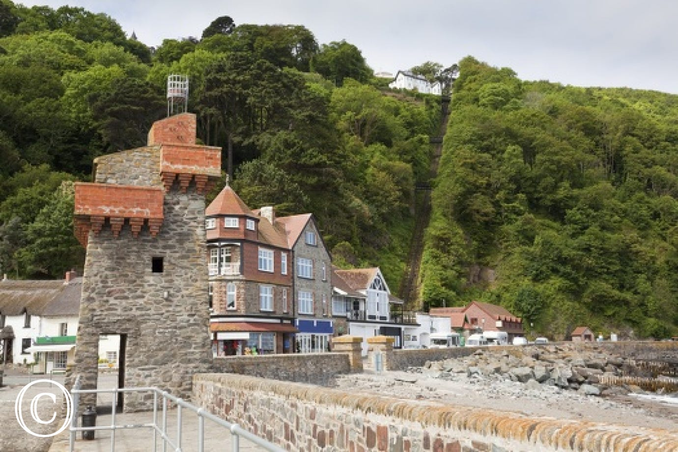 Lynmouth and Lynton are linked by road, steep footpath and famous water powered cliff railway, the area is known as Little Switzerland due to the spectacular surrounding countryside