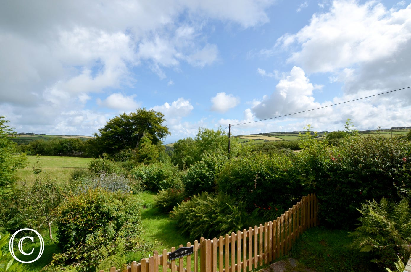 There are stunning views from the property and the garden - you won't be disappointed!
